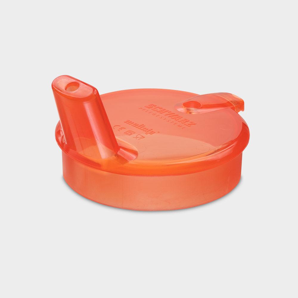 melinip Schnabelbecher ECO, Trinkdeckel 4 mm Auslass, rot