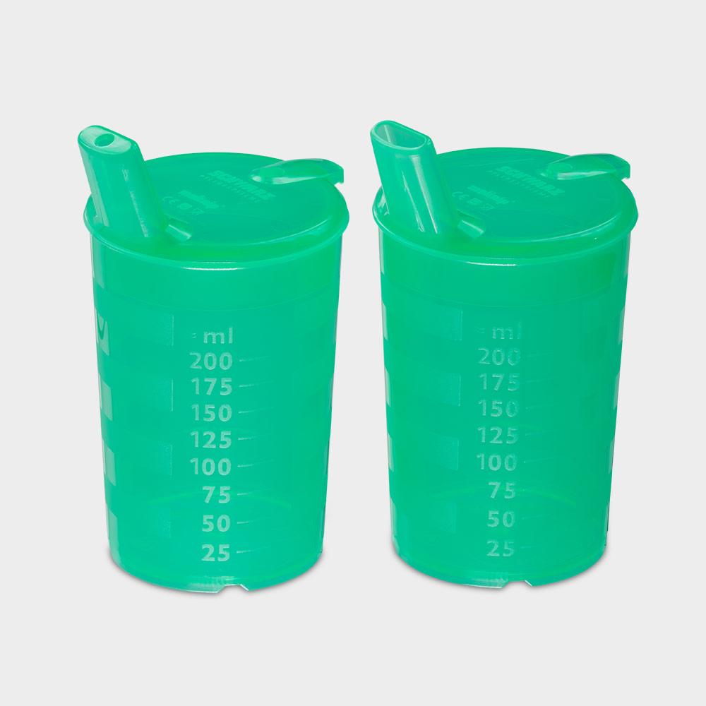 melinip Schnabelbecher ECO, Trinkdeckel 4 mm Auslass, grün - Bild 2