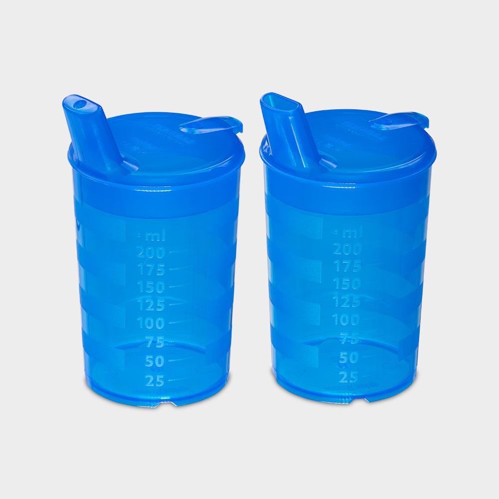 melinip Schnabelbecher ECO, Trinkdeckel 4 mm Auslass, blau - Bild 2