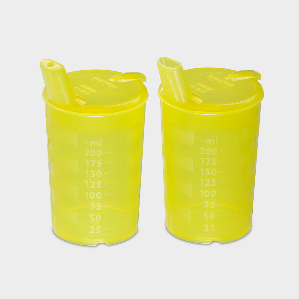 melinip Schnabelbecher ECO, Breideckel 12 mm Auslass, gelb - Bild 2