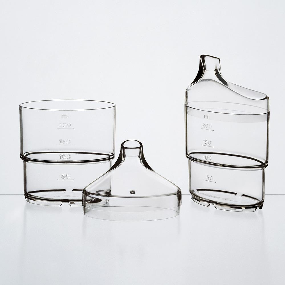 melinip Schnabelbecher apart, Unterteil, 250 ml, glasklar