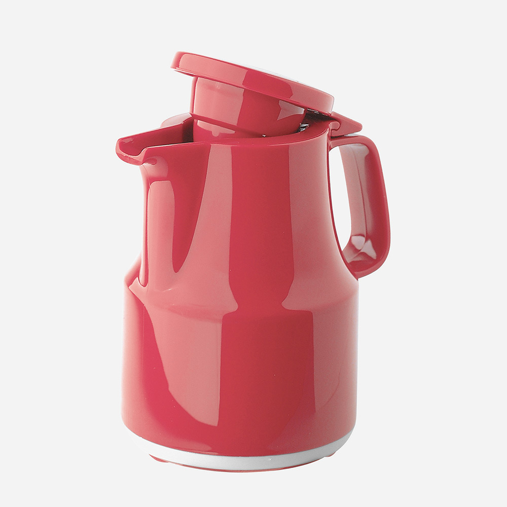 Warmhaltekanne, mit Klappdeckel, spülmaschinenfest, 300 ml, rot