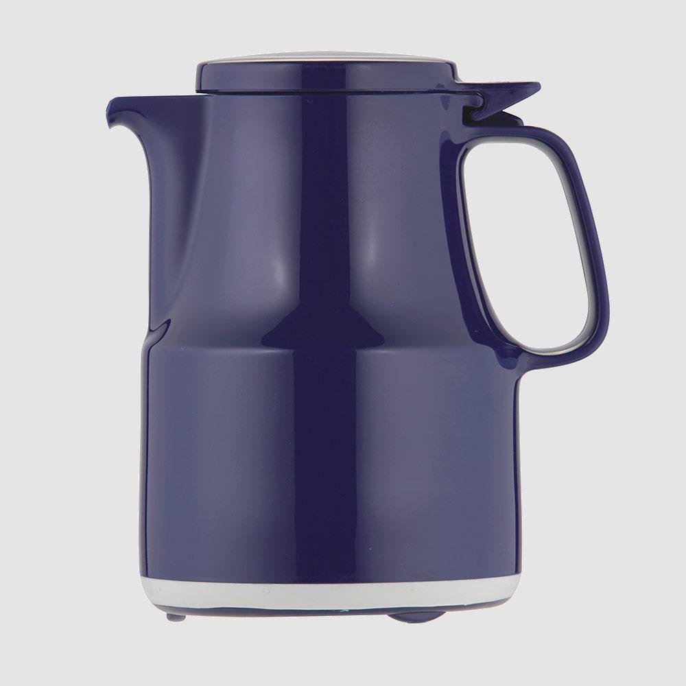Warmhaltekanne, mit Klappdeckel, spülmaschinenfest, 300 ml, blau