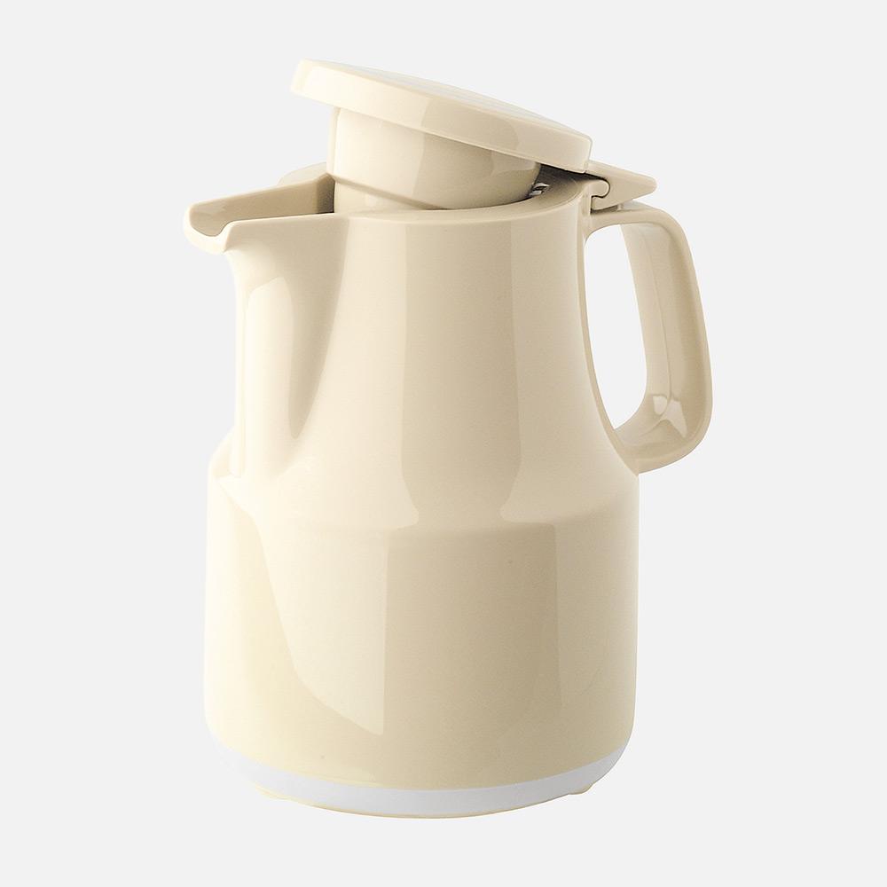Warmhaltekanne, mit Klappdeckel, spülmaschinenfest, 300 ml, beige