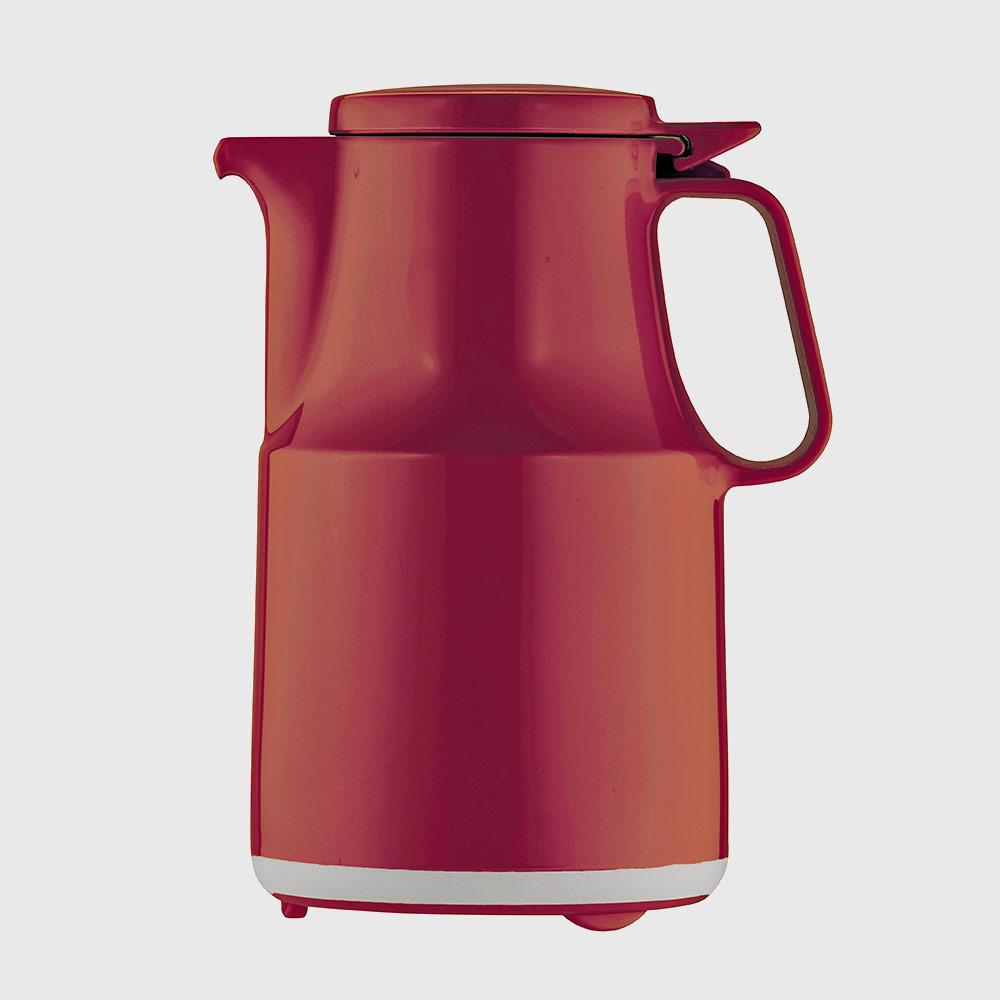 Warmhaltekanne, mit Klappdeckel, spülmaschinenfest, 600 ml, rot