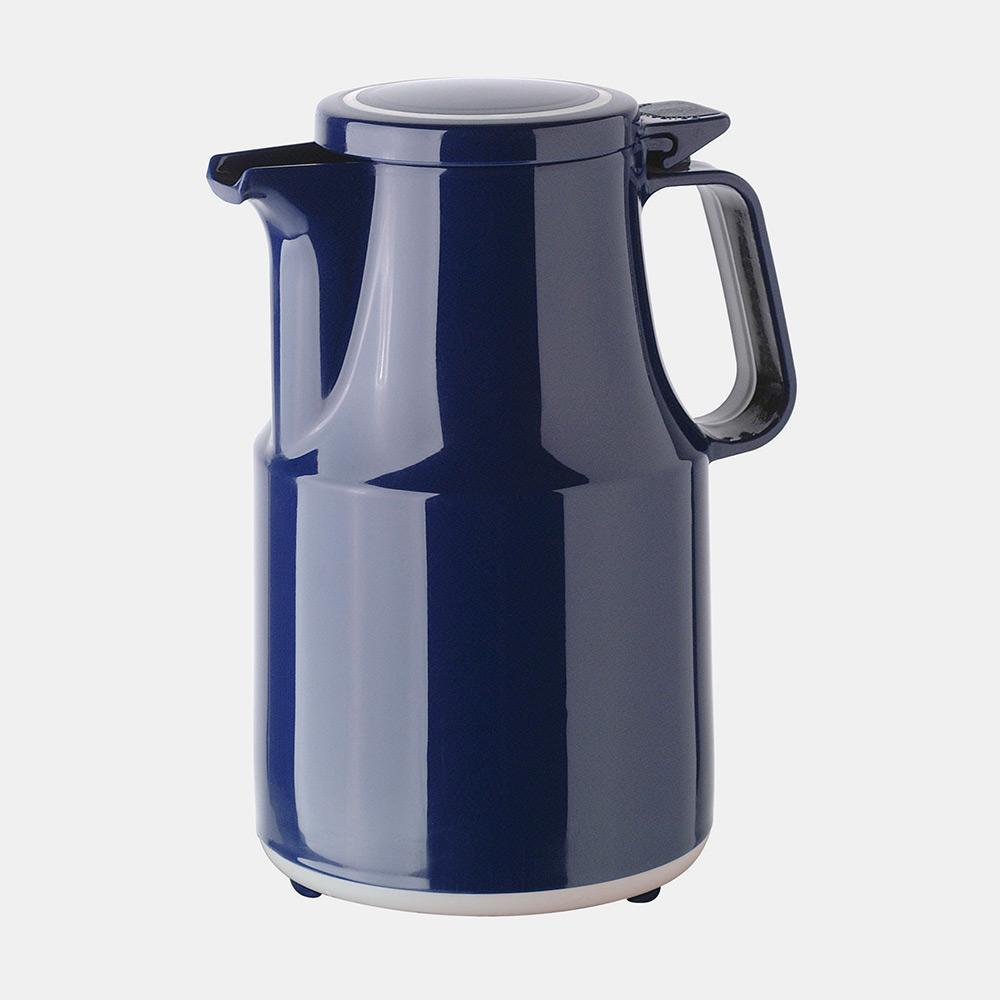Warmhaltekanne, mit Klappdeckel, spülmaschinenfest, 600 ml, blau