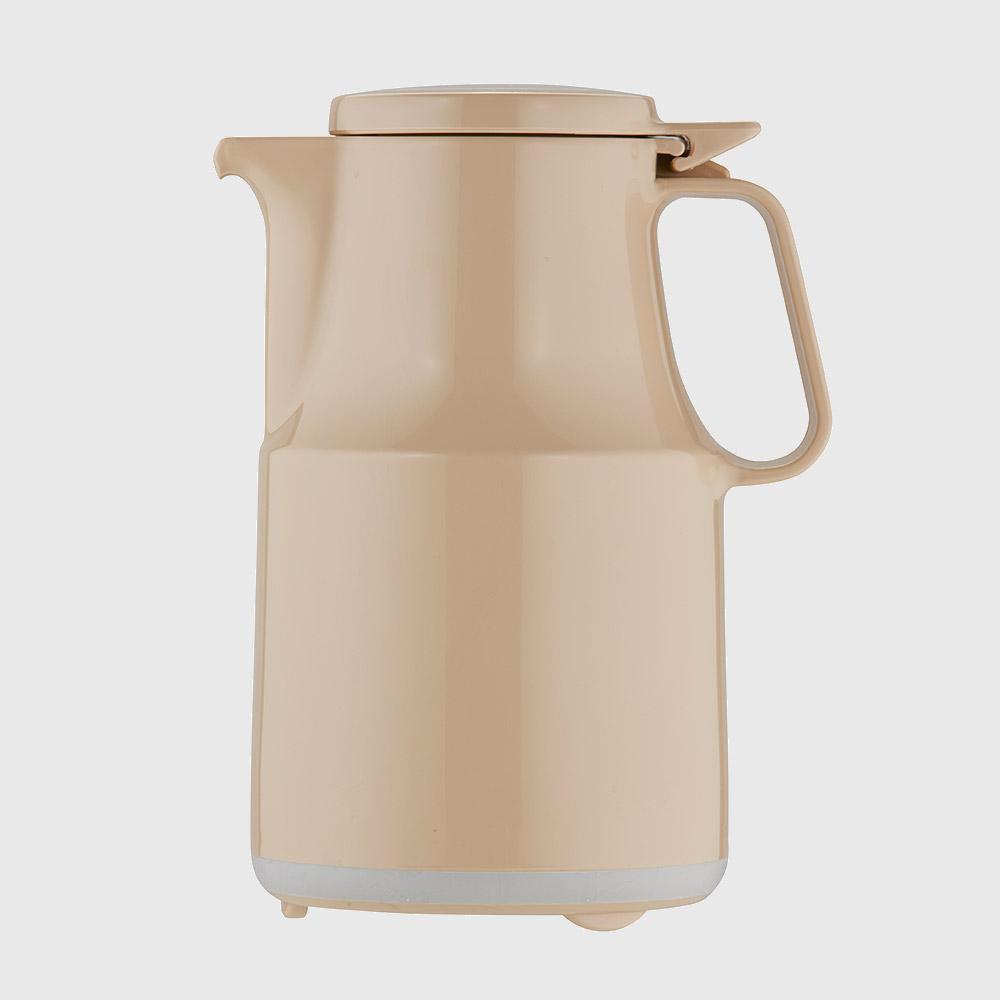 Warmhaltekanne, mit Klappdeckel, spülmaschinenfest, 600 ml, beige