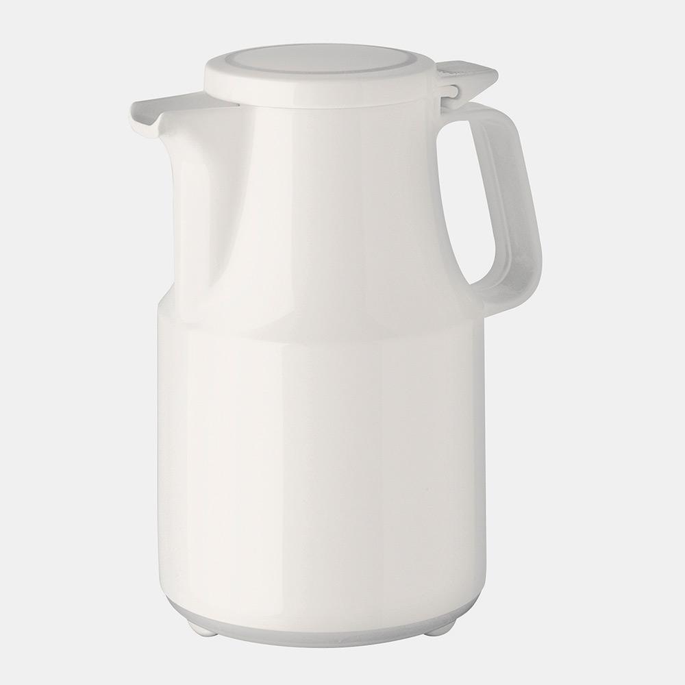 Warmhaltekanne, mit Klappdeckel, spülmaschinenfest, 600 ml, weiß