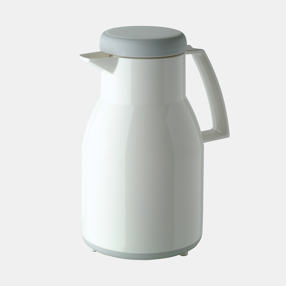 Warmhaltekanne, WASH, spülmaschinenfest, mit Drehverschluss, 1000 ml, weiß