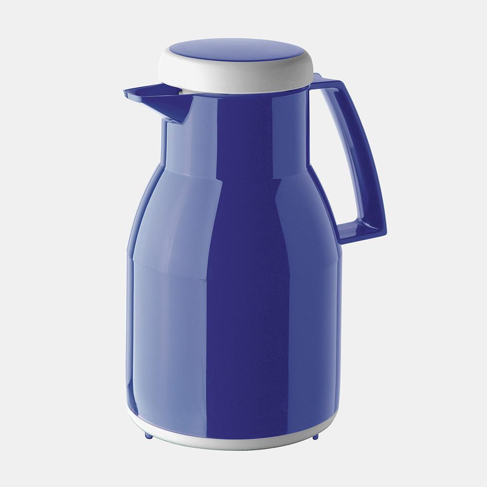 Warmhaltekanne, WASH, spülmaschinenfest, mit Drehverschluss, 1000 ml, blau