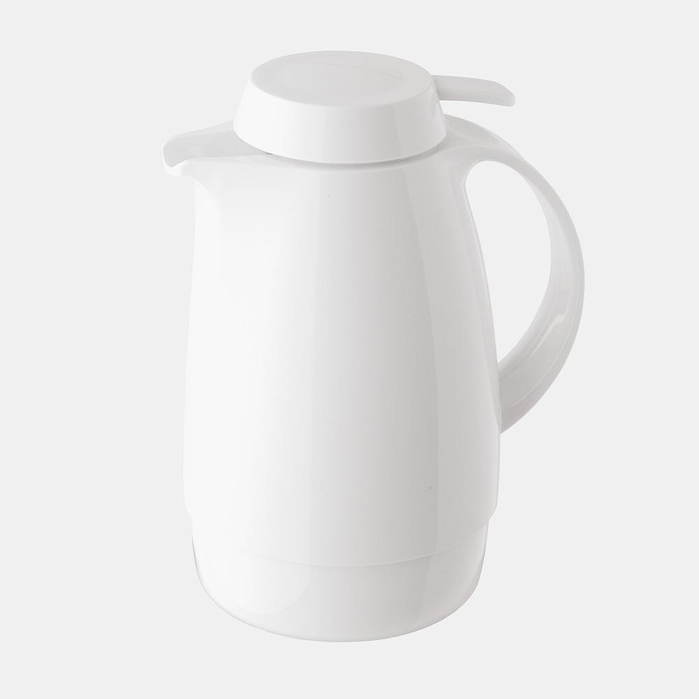 Warmhaltekanne, mit Drucktaste, 600 ml, weiß