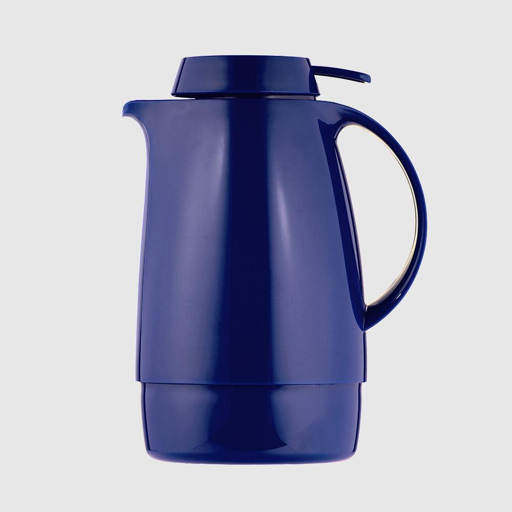 Warmhaltekanne, mit Drucktaste, 600 ml, blau