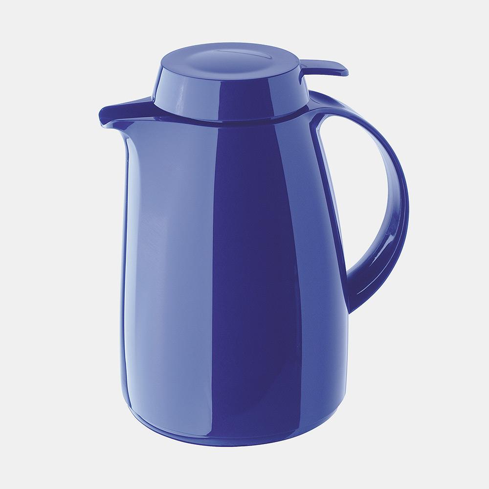Warmhaltekanne, mit Drucktaste, 1000 ml,  blau