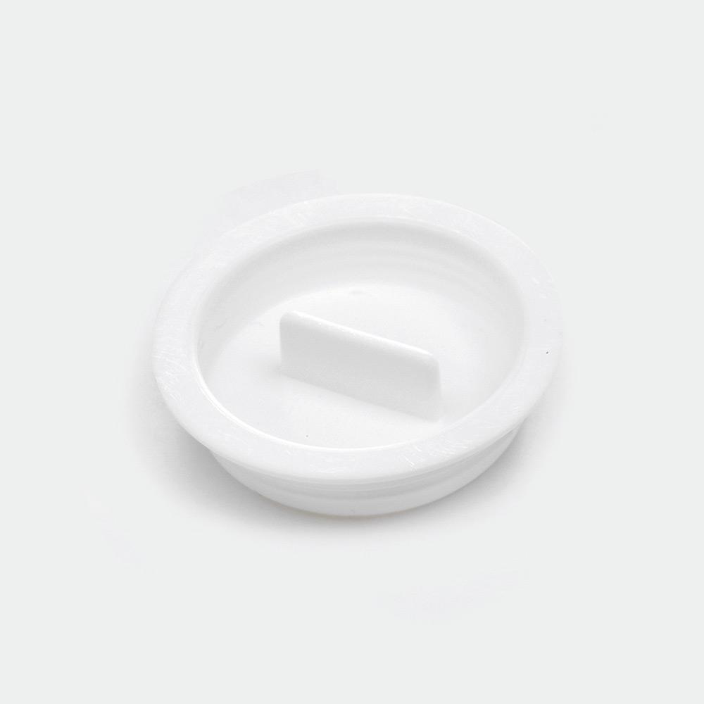 melipul Becher-Deckel, zu MEHRWEG-Medikamentenbecher, PP, Beutel 60 Stück, weiß