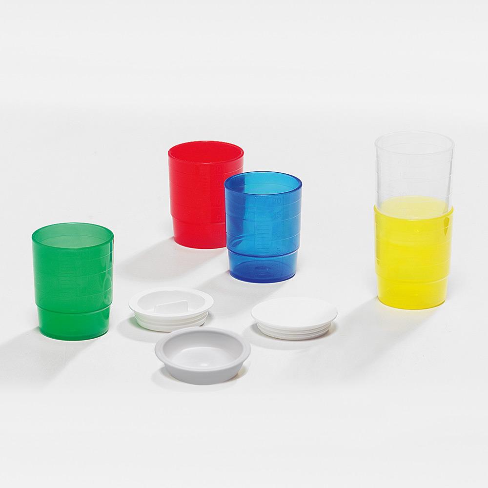 melipul Becher-Deckel, zu MEHRWEG-Medikamentenbecher, PP, Beutel 60 Stück, weiß - Bild 2