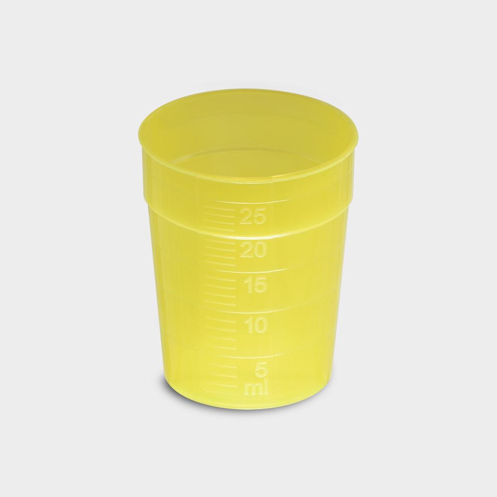 melipul EINWEG-Medikamentenbecher, 25ml, Pack 150 Stück, gelb