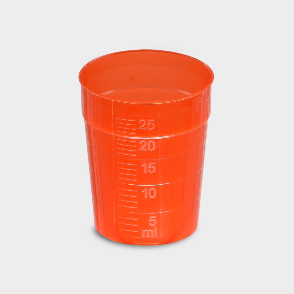 melipul EINWEG-Medikamentenbecher, 25ml, Pack 150 Stück, rot