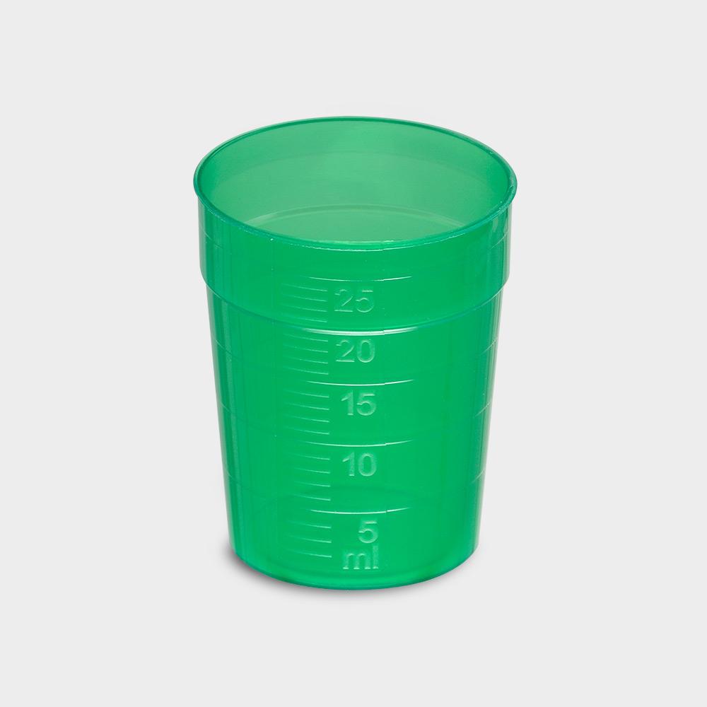 melipul EINWEG-Medikamentenbecher, 25ml, Pack 150 Stück, grün