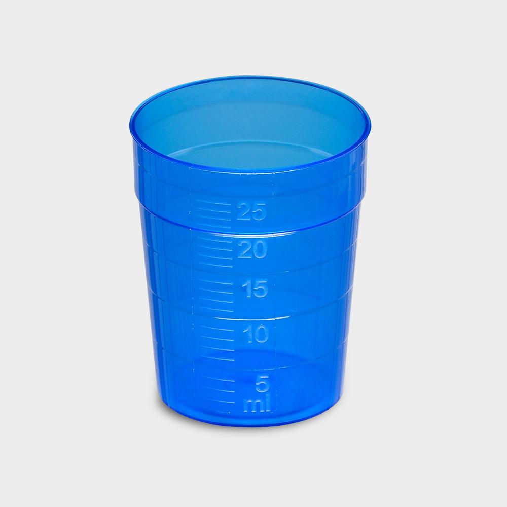 melipul EINWEG-Medikamentenbecher, 25ml, Pack 150 Stück, blau