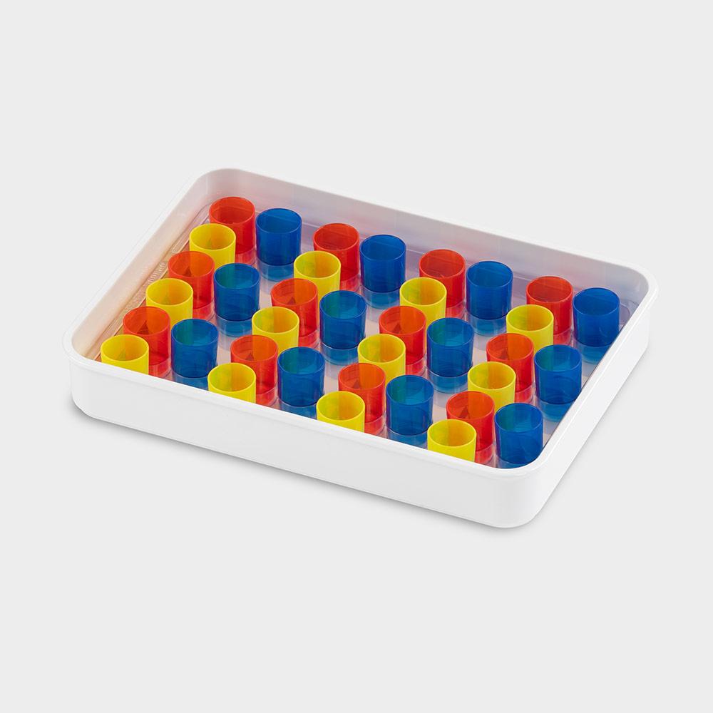 melipul Becher-Tablett 12x3-35, mit Mehrweg-Bechern