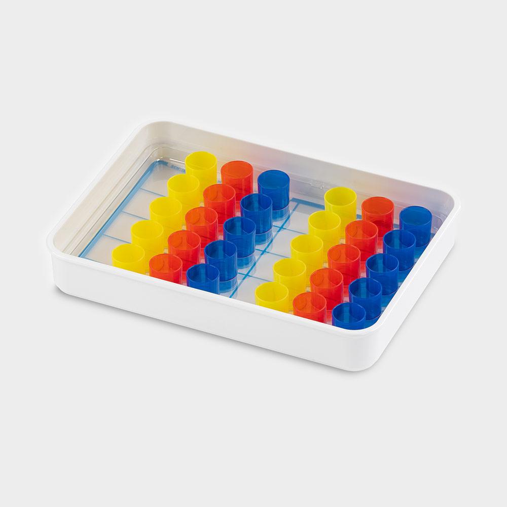 melipul Becher-Tablett 10x3-35, mit Mehrweg-Bechern