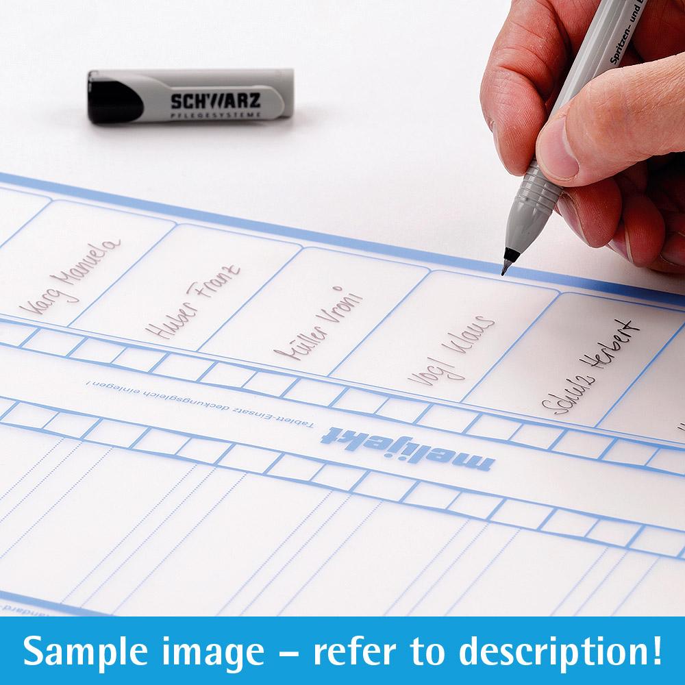 melijekt Beschriftungs-Folie 9-35 für Standard-Spritzen-Tablett
