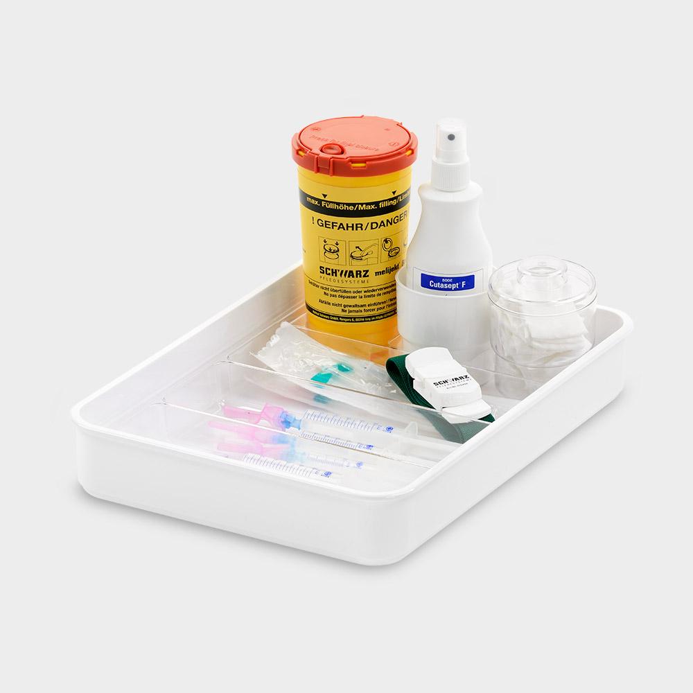 melijekt Universal-Spritzentablett 3x1/3-35/E mit Kanülenbox E