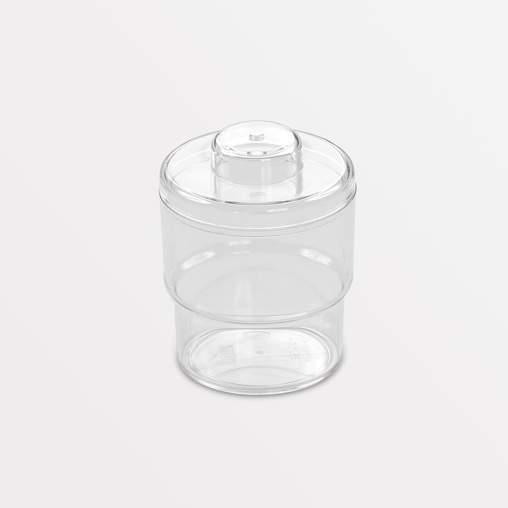 melijekt Tupferbecher, glasklar, mit Deckel aus PC