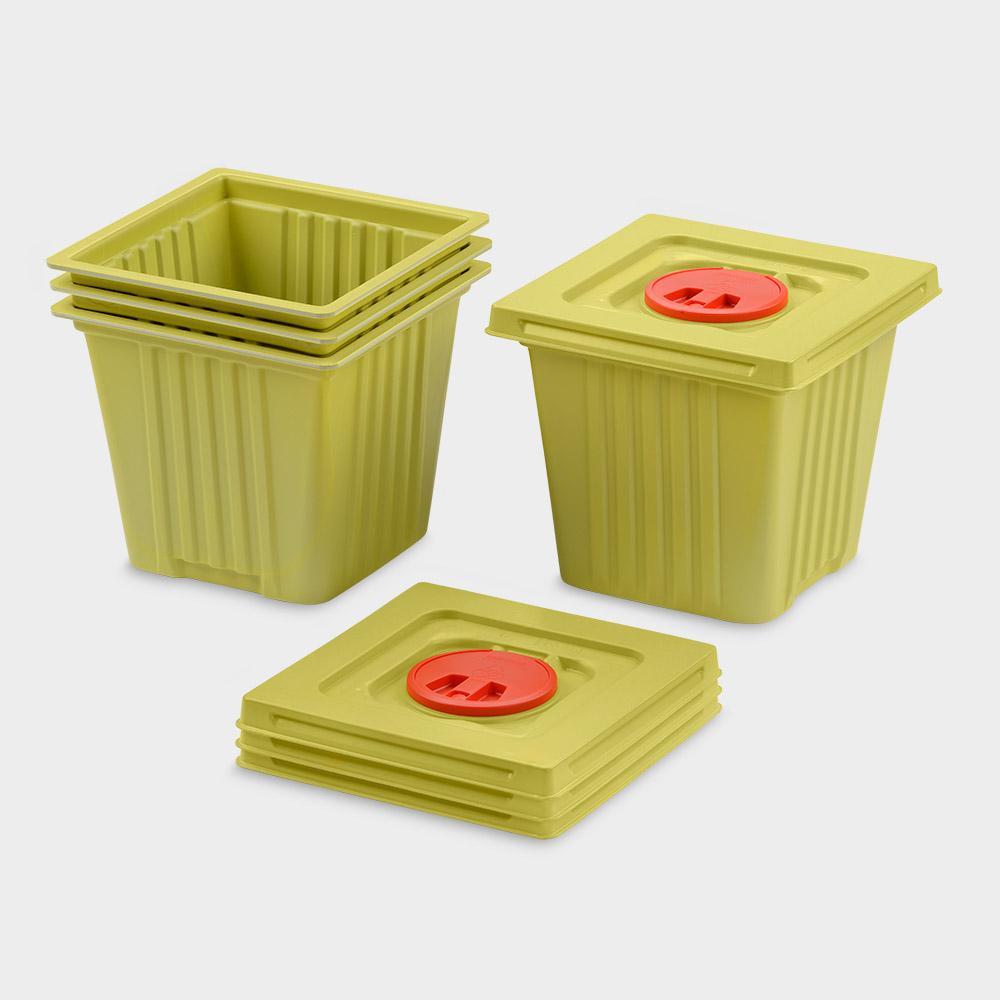melijekt Kanülen-Entsorgungsbehälter 12 L