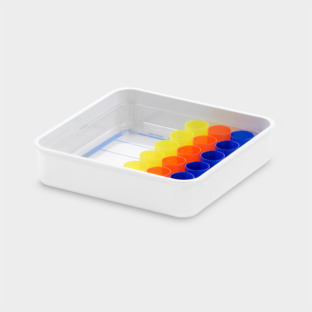 melipul Becher-Tablett 5x3-26, mit Mehrweg-Bechern