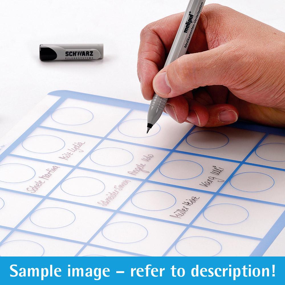 melipul Beschriftungs-Folie 15x3-43 für Becher-Tablett