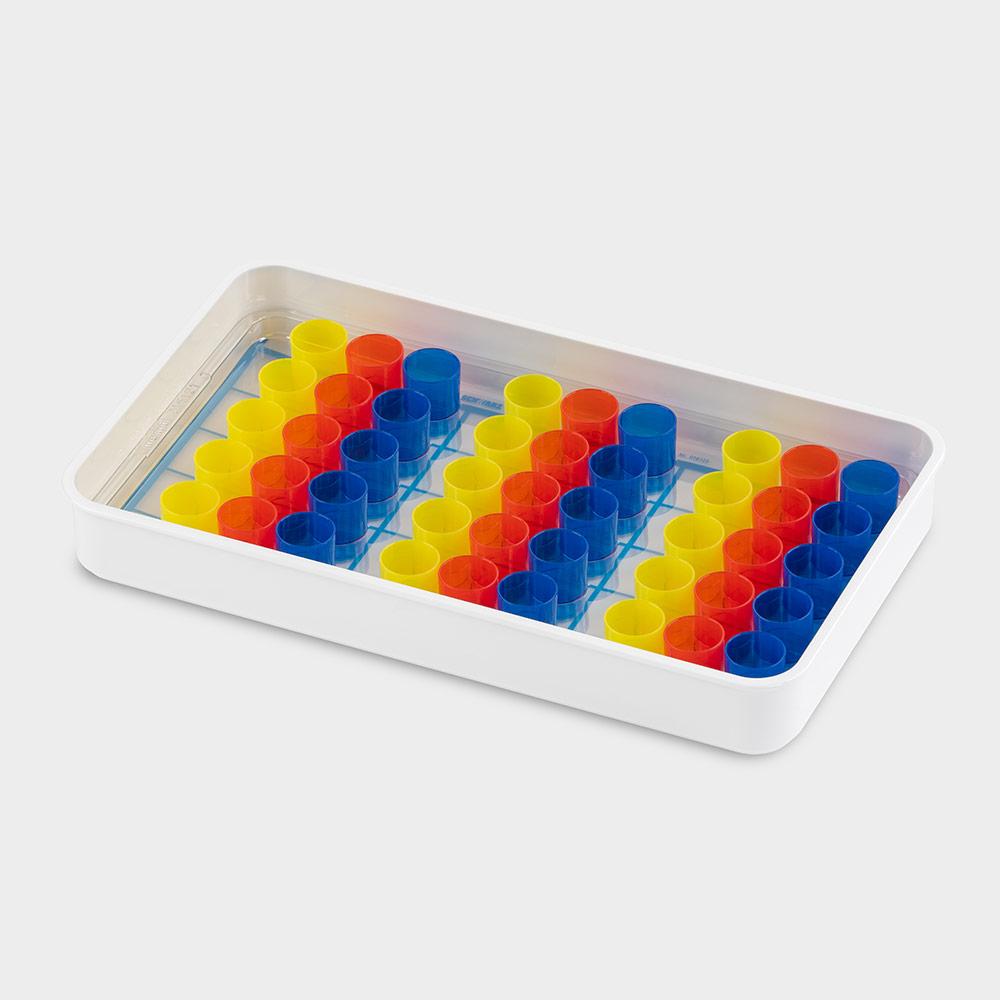 melipul Becher-Tablett 15x3-43, mit Mehrweg-Bechern