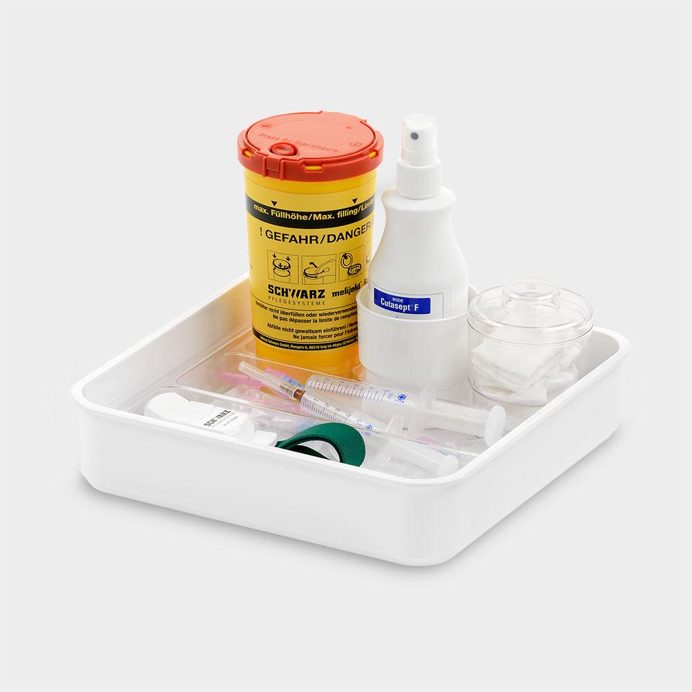 melijekt Universal-Spritzen-Tablett 2x1/2-26/E