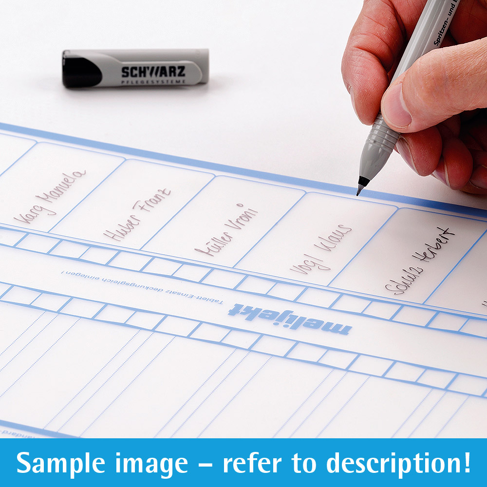 melijekt Beschriftungs-Folie 3-26 für Standard-Spritzen-Tablett