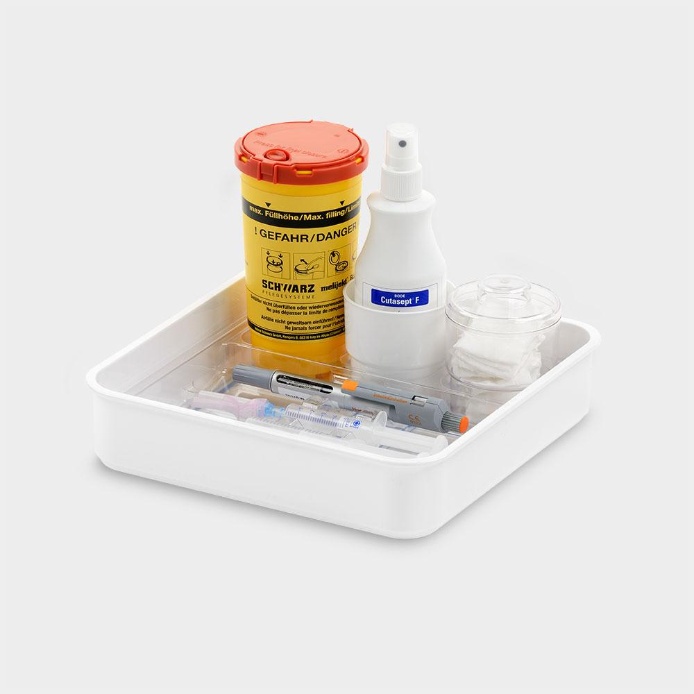 melijekt Standard-Spritzen-Tablett 3-26/E
