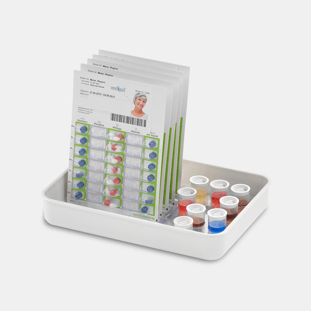 melipul Medikamenten-Tablett 9K+12B-35